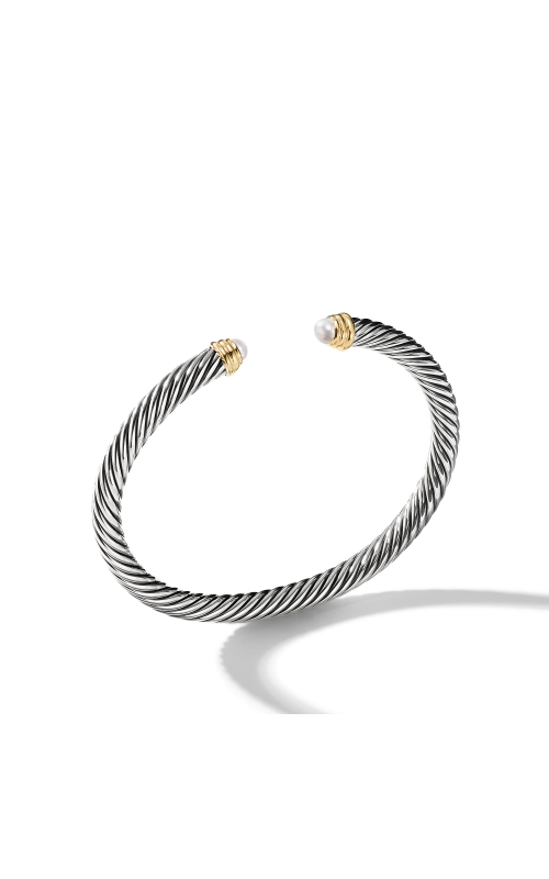 Cable Classics Collection® Bracelet with Pearls and 14K Gold product image
