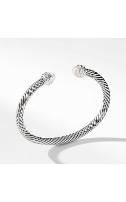 Cable Classics Collection® Bracelet With Pearls And Diamonds product image
