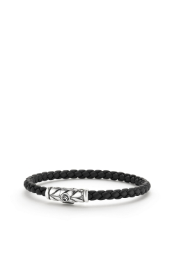 Chevron Woven Rubber Bracelet In Black product image