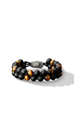 Spiritual Beads Two-Row Bracelet With Black Onyx And Tiger's Eye product image