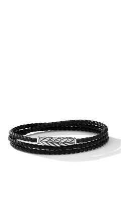 Chevron Triple-Wrap Bracelet In Black product image