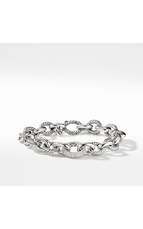Oval Large Link Bracelet with Diamonds product image