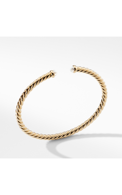 Cable Spira Bracelet with Pearls in 18K Gold product image