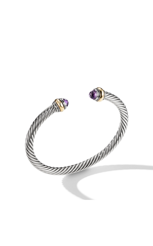 Cable Classic Bracelet with Amethyst and Gold product image