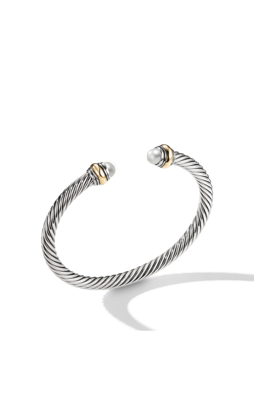 Cable Classic Bracelet with Pearl and 14K Gold product image