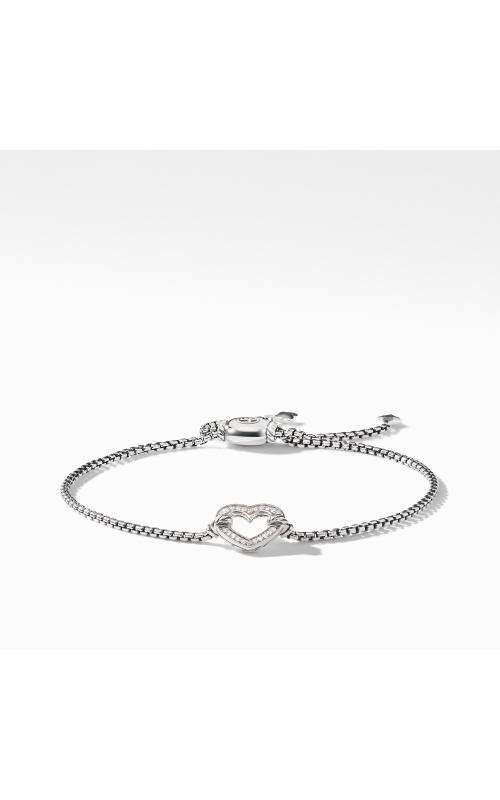 Heart Station Bracelet with Diamonds product image