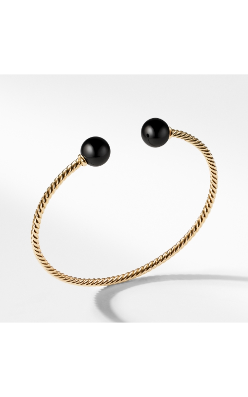 Bead Bracelet with Black Onyx in 18K Gold product image