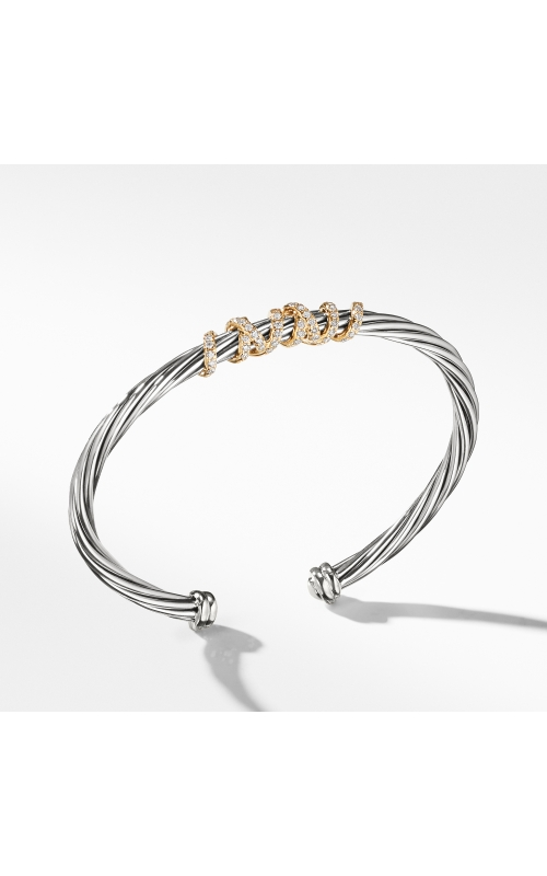 Helena Center Station Bracelet with Diamonds and 18K Gold product image