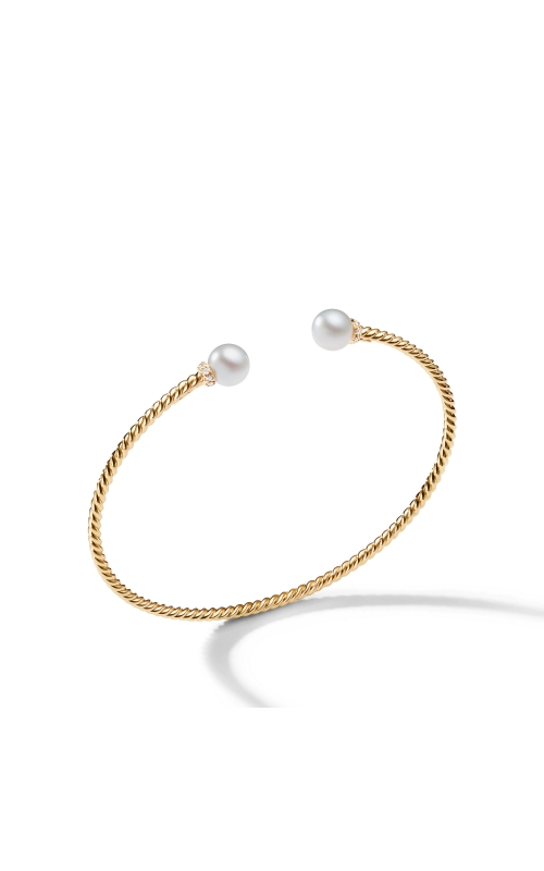 Solari Pearl Bracelet in 18K Yellow Gold with Diamonds product image