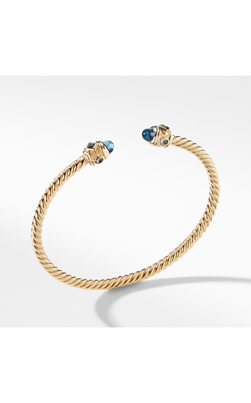 Renaissance Bracelet with Hampton Blue Topaz in 18K Gold, 3.5mm product image