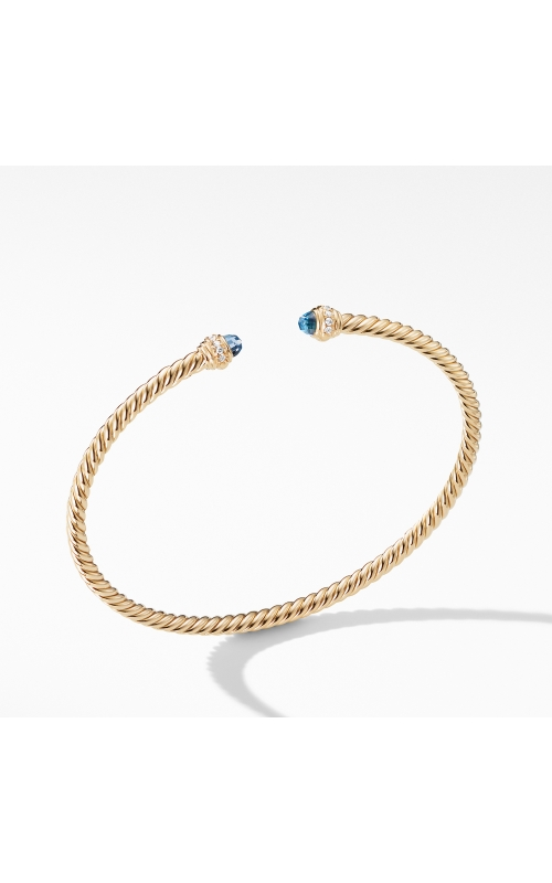 Cable Spira® Bracelet in 18K Gold with Hampton Blue Topaz and Diamonds product image