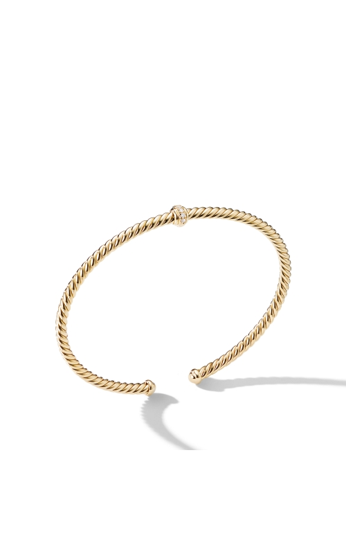Renaissance Center Station Bracelet with Diamonds in 18K Gold, 3mm product image