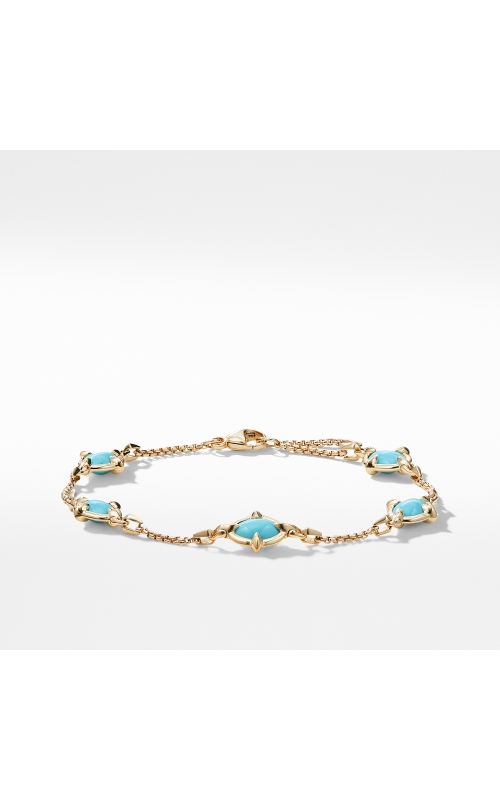 Chatelaine® Chain Bracelet in 18K Gold with Turquoise product image