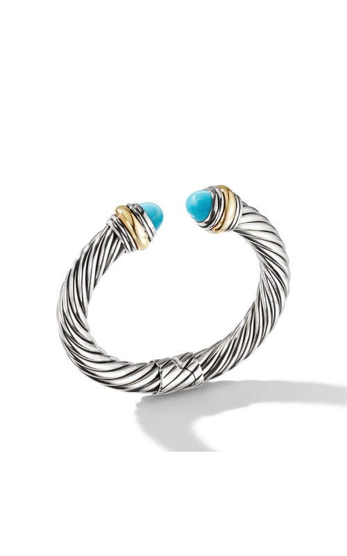 Cable Classics Bracelet with Turquoise and 14K Gold, 10mm product image