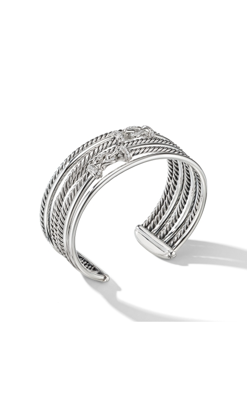 Buckle Crossover Cuff Bracelet with Diamonds product image