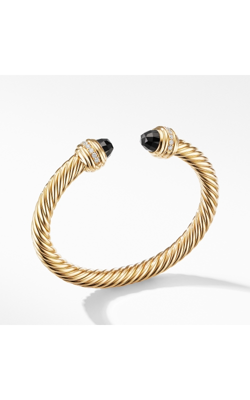 Cable Bracelet in 18K Gold with Black Onyx and Diamonds product image