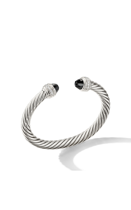 Cable Bracelet with Black Onyx and Diamonds product image
