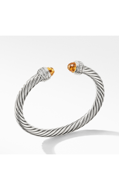 Cable Bracelet with Citrine and Diamonds product image