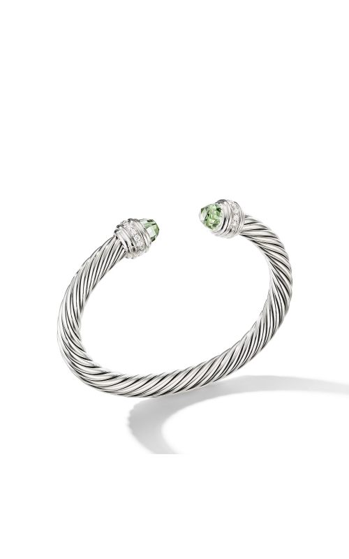 Cable Bracelet with Prasiolite and Diamonds product image