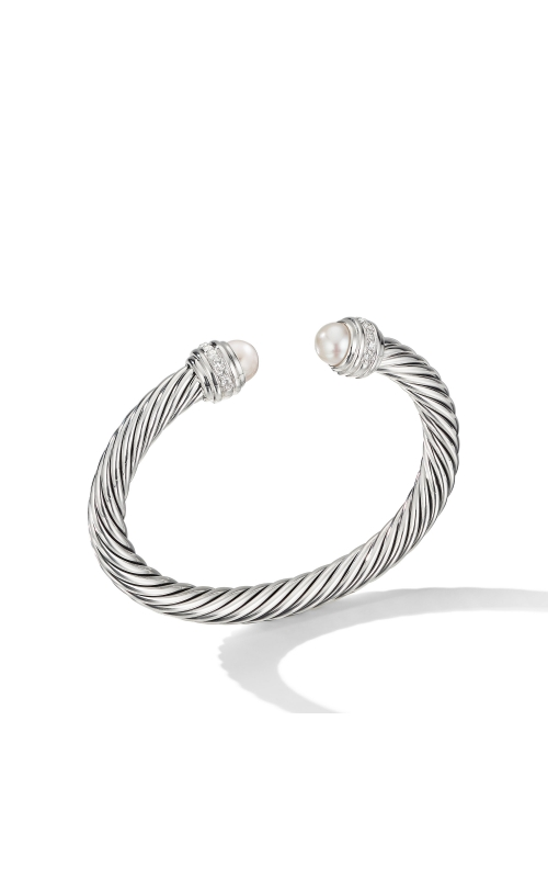 Cable Bracelet with Pearls and Diamonds product image