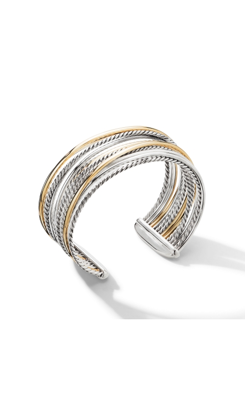 The Crossover Collection® Wide Cuff Bracelet with 18K Yellow Gold product image