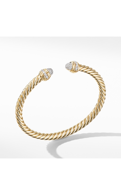 Cable Bracelet in 18K Yellow with Diamonds product image
