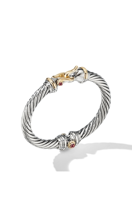 Cable Buckle Bracelet with 18K Yellow Gold and Rhodalite Garnet product image