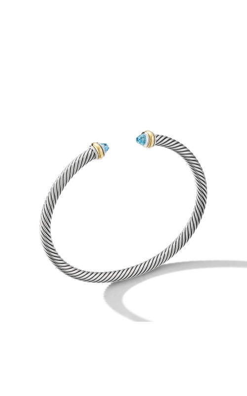Cable Classic Bracelet with Blue Topaz and 18K Yellow Gold product image