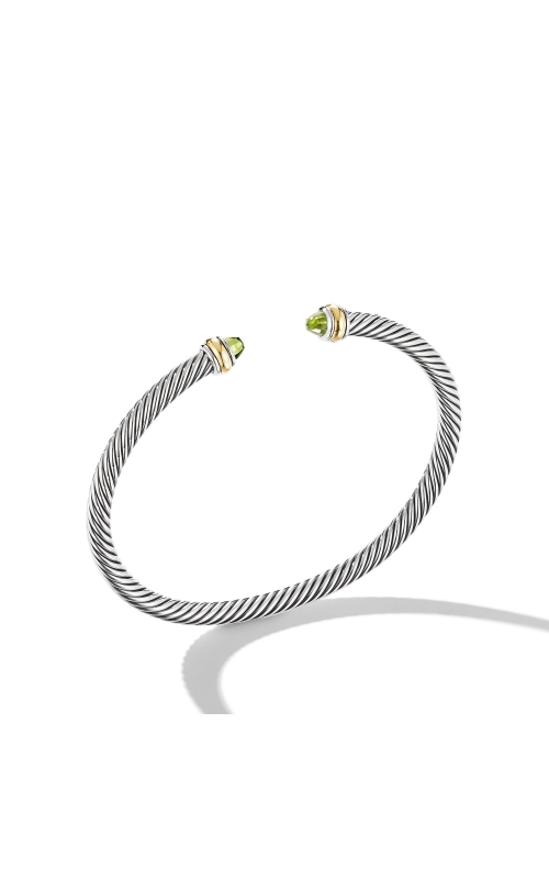 Cable Classic Bracelet with Peridot and 18K Yellow Gold product image
