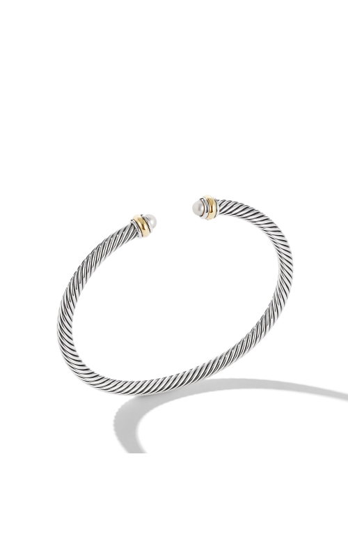 Cable Classic Bracelet with Pearl and 18K Yellow Gold product image