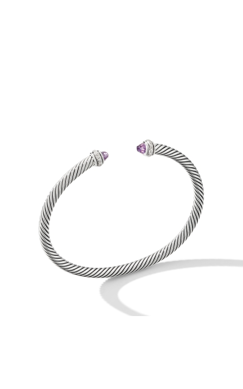 Cable Classic Bracelet with Amethyst and Diamonds product image