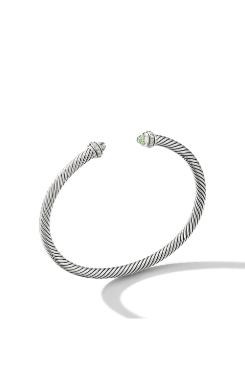 Cable Classic Bracelet with Prasiolite and Diamonds product image