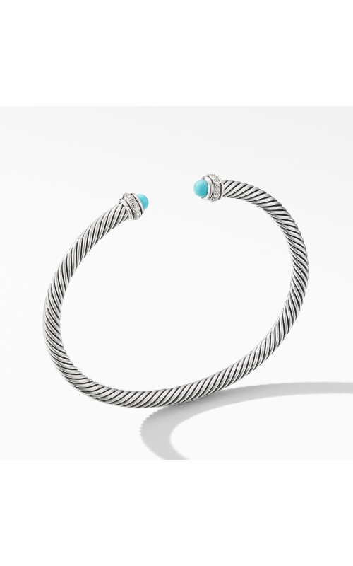 Cable Classic Bracelet with Turquoise and Diamonds product image