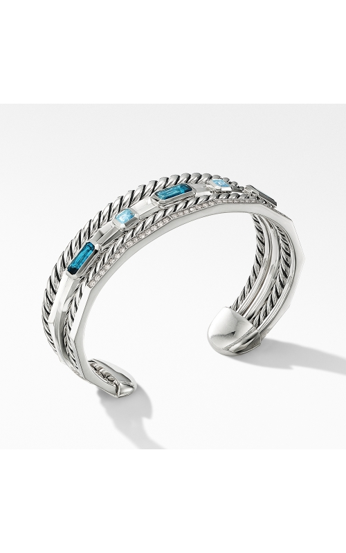 Stax Narrow Cuff Bracelet with Hampton Blue Topaz and Diamonds product image