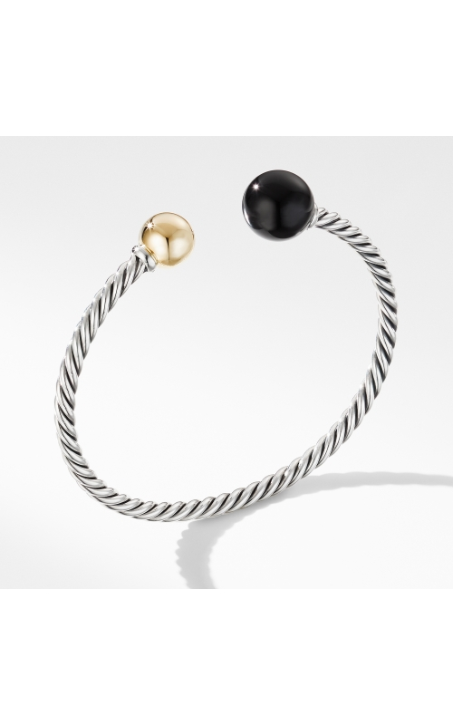 Solari XL Cable Bracelet with Black Onyx, Gold Dome and 14K Yellow Gold product image