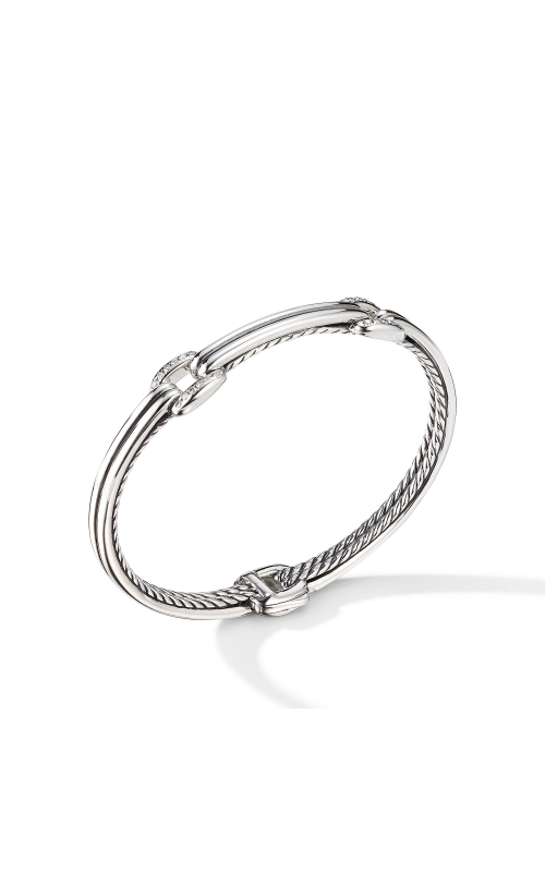 Thoroughbred® Double Link Bracelet with Diamonds product image