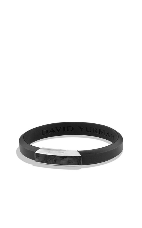 Forged Carbon Rubber ID Bracelet in Black product image