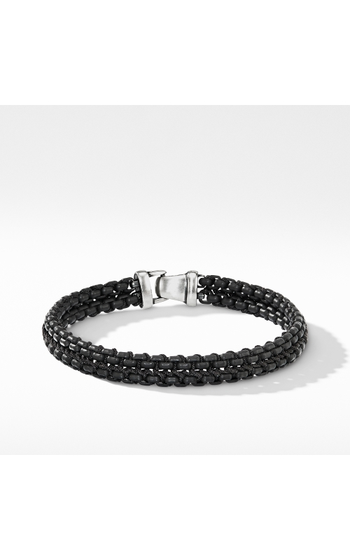 Woven Box Chain Bracelet in Black product image