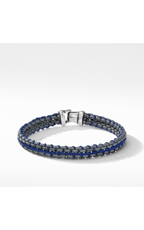 Woven Box Chain Bracelet in Grey product image