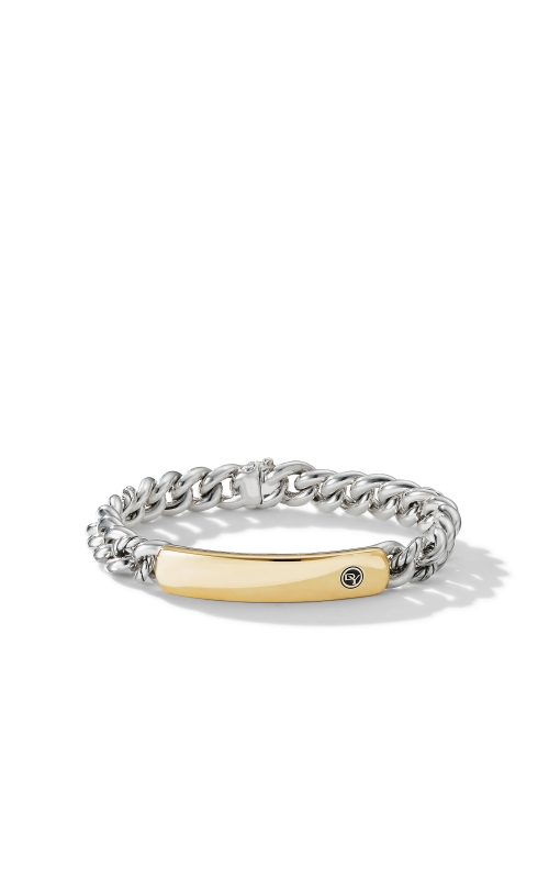 Belmont Curb Link ID Bracelet with 18K Yellow Gold product image