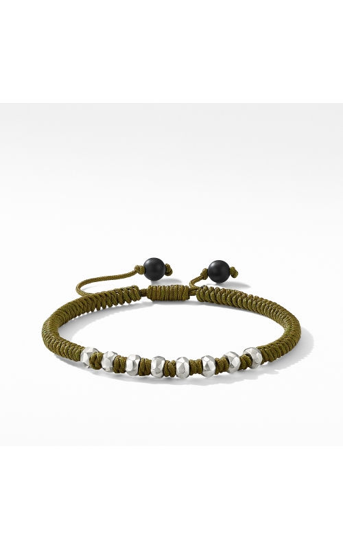 DY Fortune Woven Bracelet in Army Green with Black Onyx product image