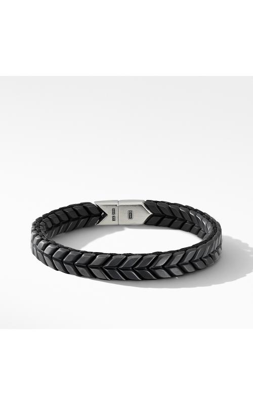 Chevron Woven Bracelet in Black Titanium product image