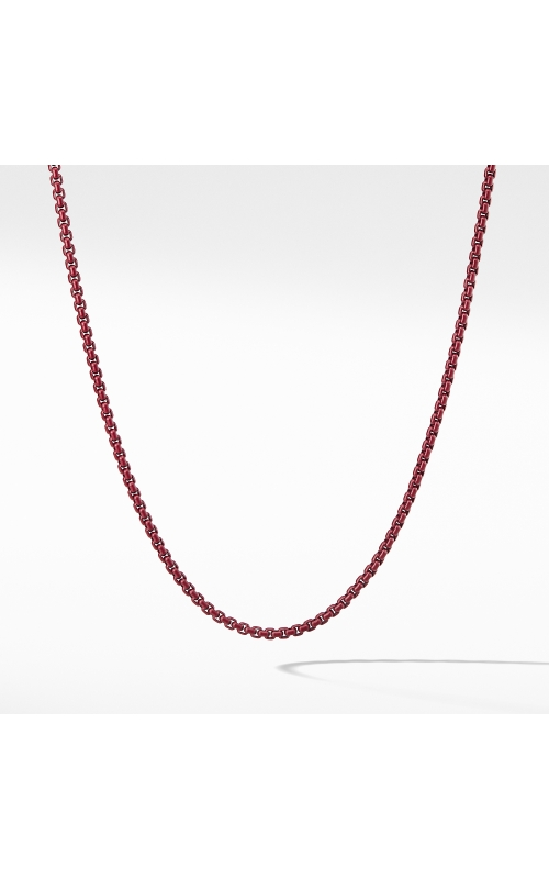 Box Chain Necklace in Burgundy product image