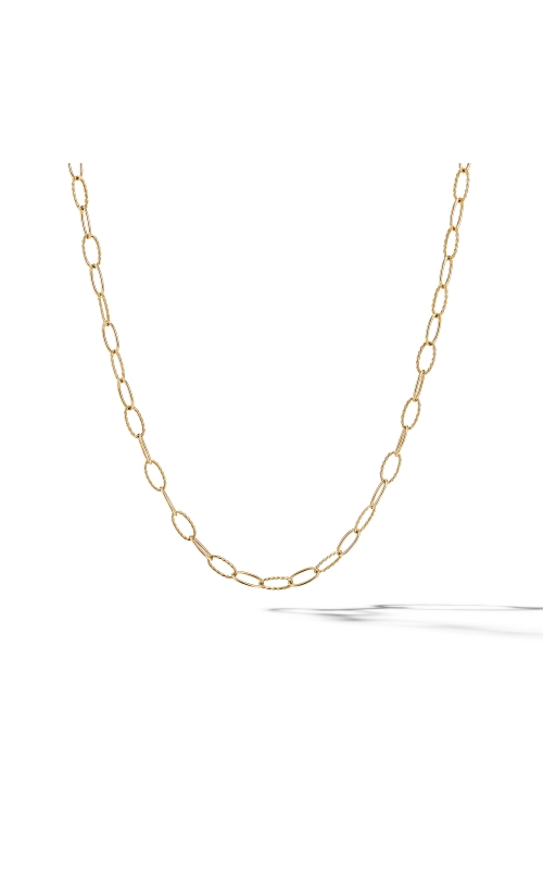 Stax Elongated Oval Link Necklace in 18K Yellow Gold product image