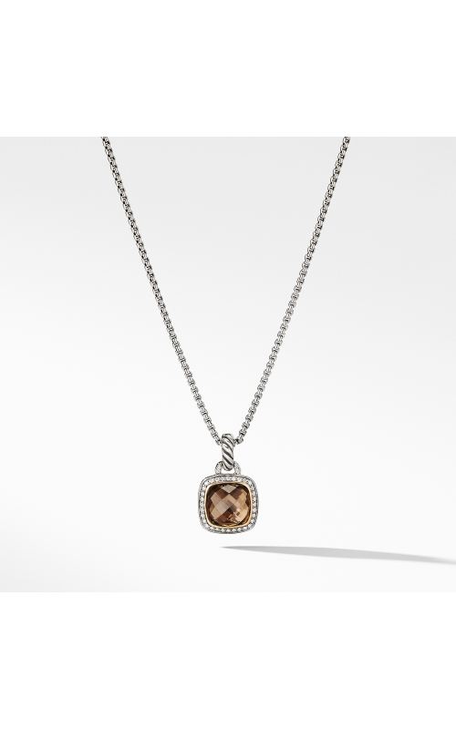 Pendant with Smoky Quartz and  Diamonds with 18K Gold product image