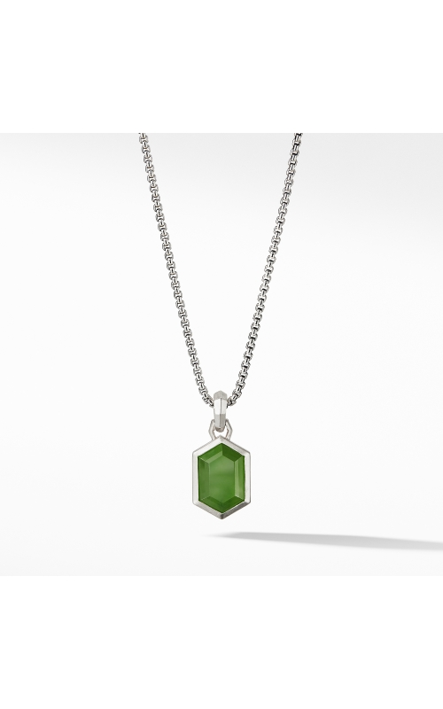 Hexagon Cut Amulet with Nephrite Jade product image
