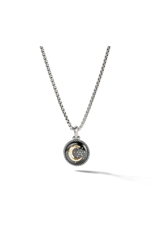 Moon and Star Amulet with Diamonds and 18k Gold product image