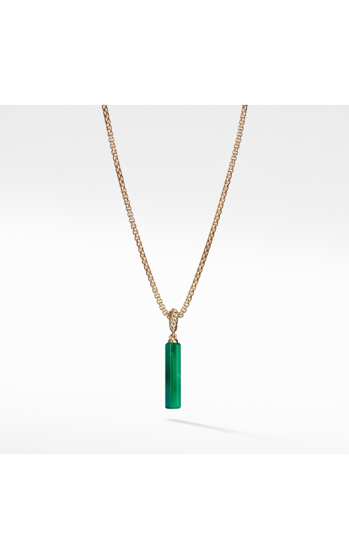 Barrel Charn in Green Onyx with 18K Gold product image