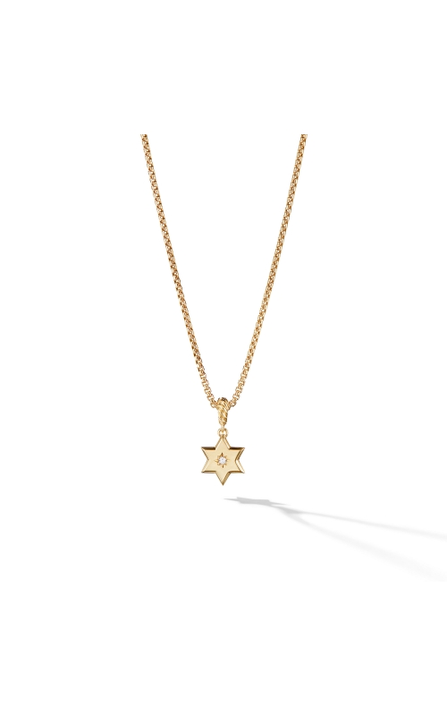 Star of David Pendant in 18K Yellow Gold with Diamonds product image
