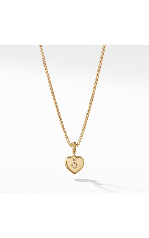 Compass Heart Pendant in 18K Yellow Gold with Diamonds product image